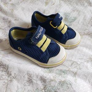 ✿❀ Nautica Baby Blue Yellow Slip on Mesh Shoes ❀✿